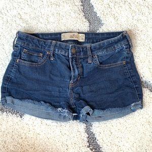 Hollister. Blue jean shorts. Size 5s.